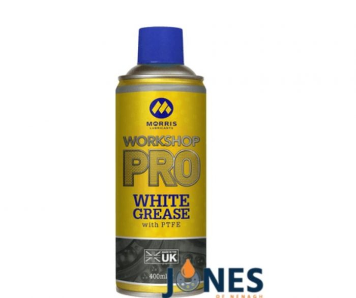 Morris Workshop Pro White Spray Grease 400ml